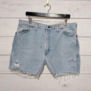 Vintage Wrangler Rigid Denim Cut Off Shorts
